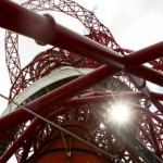 The ArcelorMittal Orbit sculpture after its official unveiling at the Olympic Park, London. (AP Photo/Tim Hales)