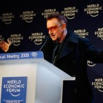 Bono at the World Economic Forum. (Getty Images)